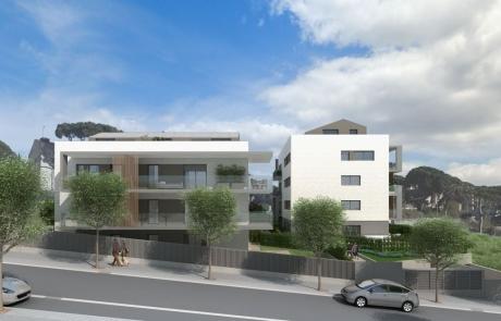 Bloque viviendas sostenibles