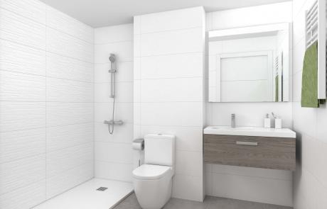 Detalle baño Apartamentos Sostenibles en l'Om de Tiana