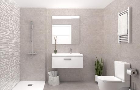 Detalle baños Apartamentos Sostenibles en l'Om de Tiana