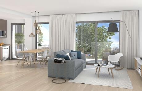 Detalle living room Viviendas Ecosostenibles en l'Om de Tiana