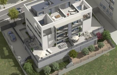 Vista aerea Apartamentos Ecoeficientes Magraners