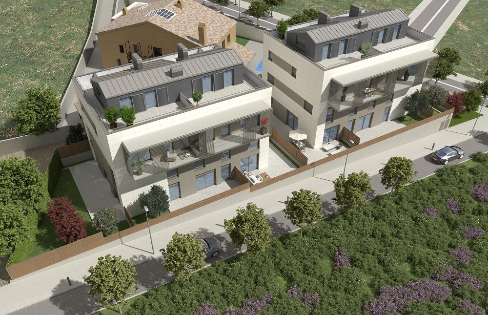 Vista aerea Edificios Ecosostenibles en l'Om de Tiana