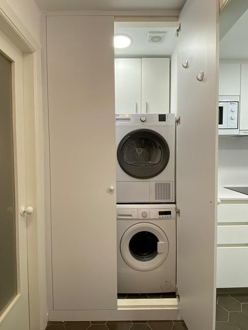 Donde colocar la secadora y la lavadora