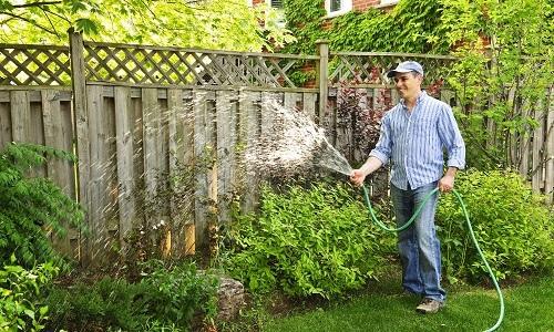 ahorrar agua en el jardin
